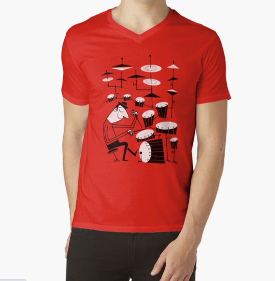 Play that beat Red T-Shirt For Men
