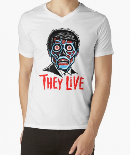 They Live White Short Sleeve Shirt For Men's