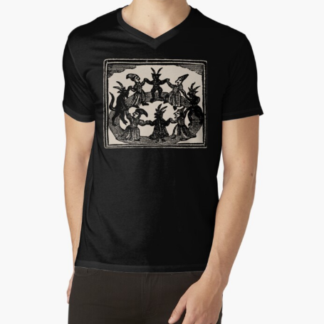 Witches Circle Dance Fitness Men Black T-Shirt