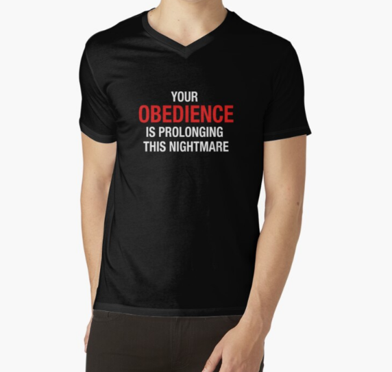 Your Obedience Is Prolonging This Nightmare Black Shirt Men's