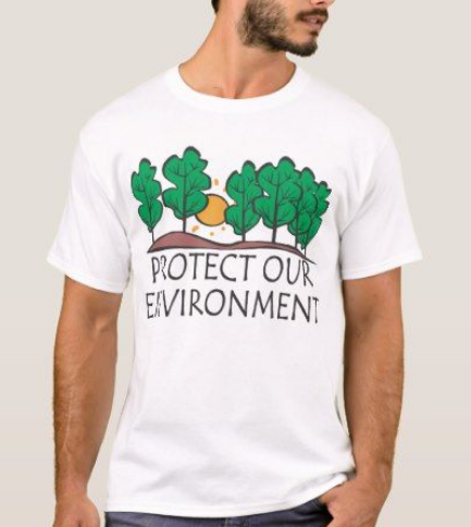 Protect Our Environment White T-Shirt For Men