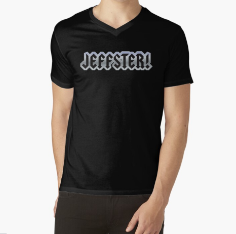 Jeffster Tribute Band From Chuck TV Show Black T-Shirt Men