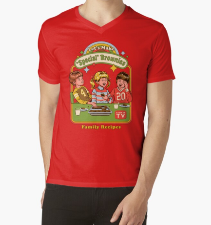 Let's Make Special Brownies Classic Red T-Shirt