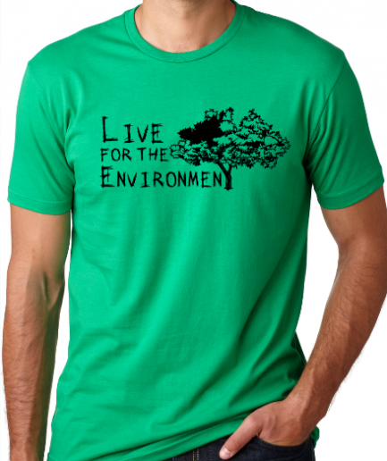 Live For The Environment Green T-Shirt Men