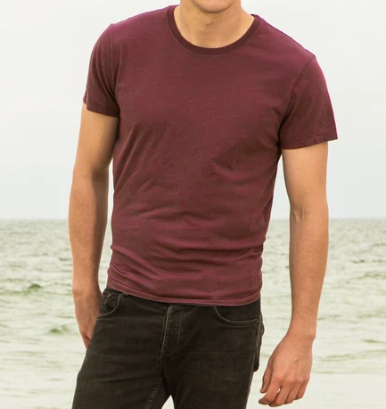 Causal Maroon T-Shirt For Men's