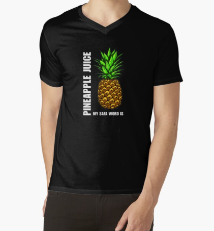 My Safe Word is Pineapple Juice Black T-Shirt For Men's