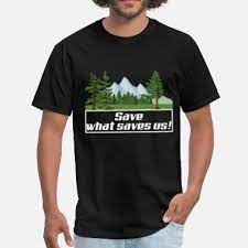 Save What Saves Us Environment Classic Black T-Shirt For Men