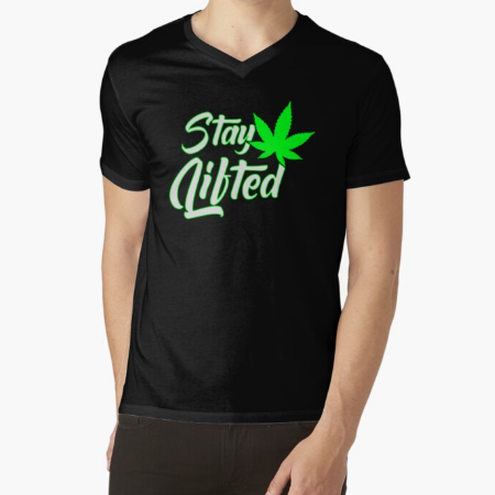 Stay Lifted Fitness Men Classic Black T-Shirt