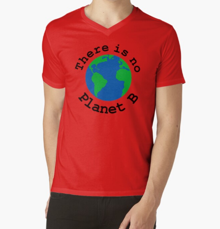 There is no Planet B Red T-Shirt for Men