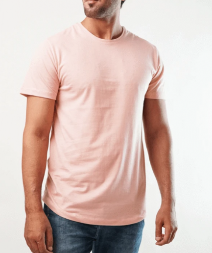 Xylo Crew Neck Pink T-Shirt For Men