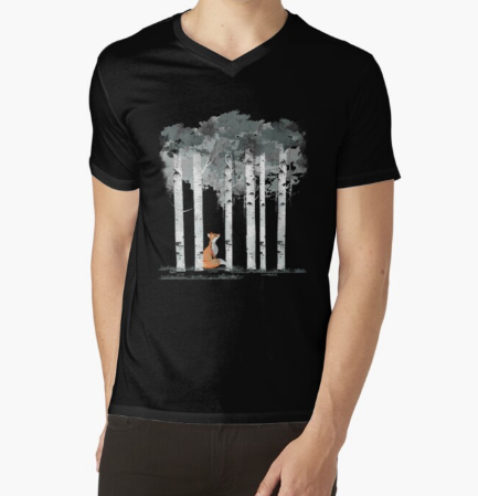 fox and birch's water Color Men Classic Black T-Shirt