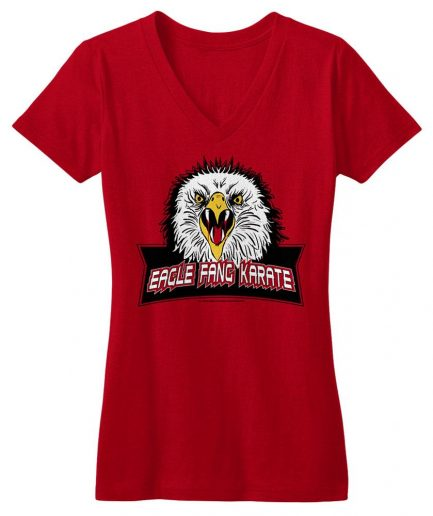 Eagle Fang Karate Women's Red V-Neck Tee