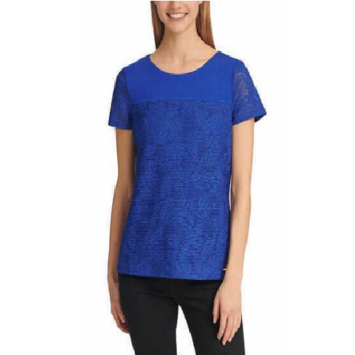 Ladies' Stretch Textured Relaxed Fit T-Shirt