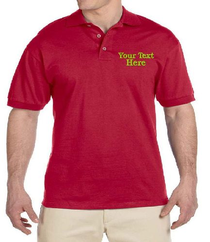 Men's Red Casual Jersey T-Shirt